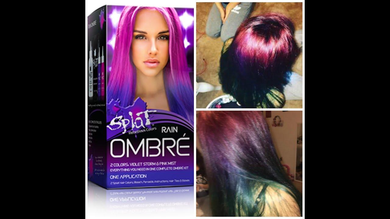 Dying My Sisters Hair (Splat Hair Dye) - YouTube