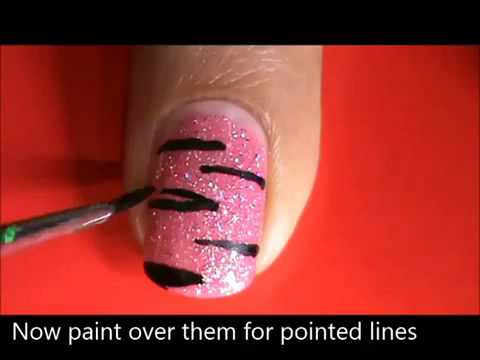 pink tiger nail art designs easy youtube do it yourself