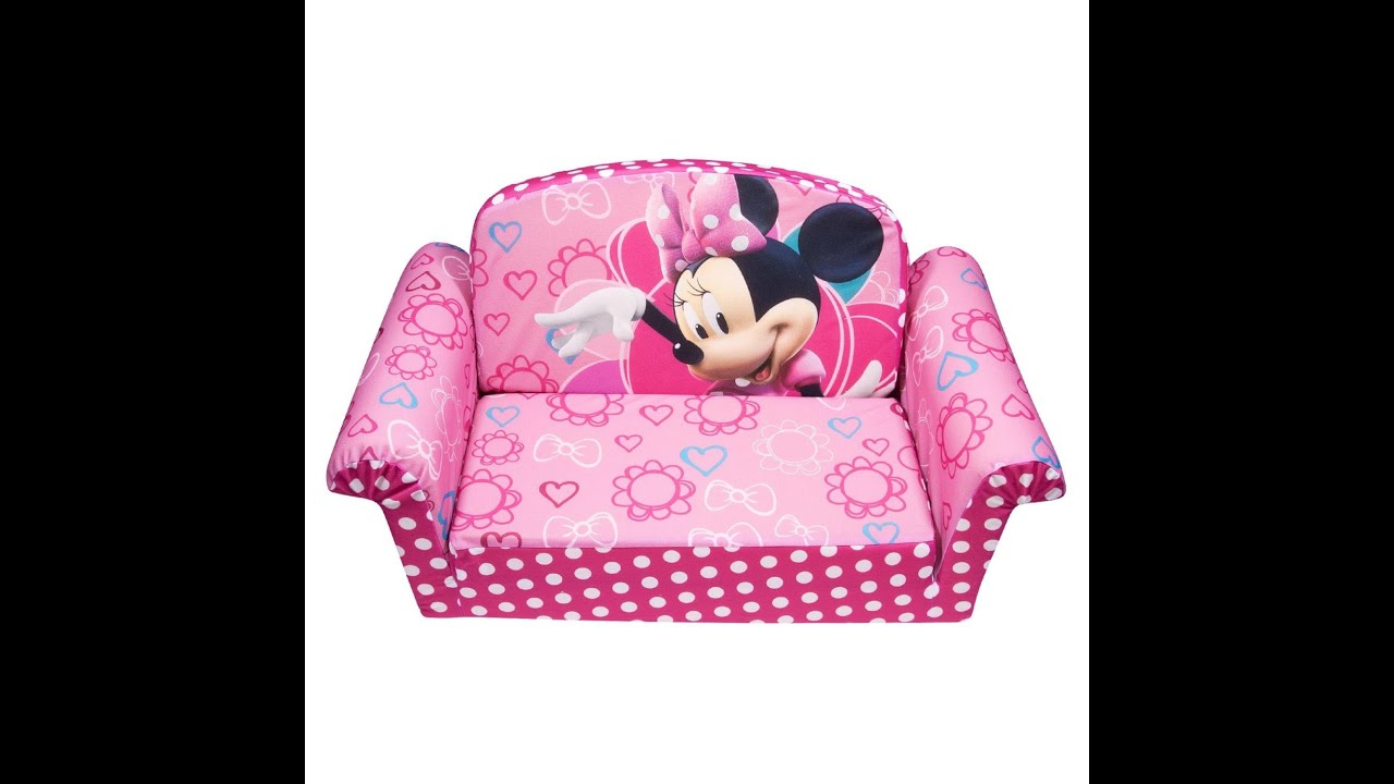 Review Marshmallow Childrenu0027s Furniture - 2 in 1 Flip Open Sofa - Disneyu0027s Minnie Mouse Bow-Tique - YouTube  sc 1 st  YouTube : disney minnie mouse chair - Cheerinfomania.Com