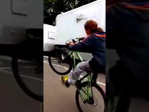 wheelie at roman road