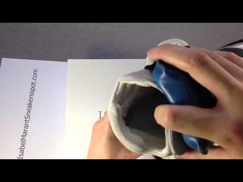 Isabel Marant Bekket High top Blue Tongue Suede Wedge Sneakers