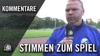 Die Stimmen zum Spiel (SV Stern Britz – SG Empor Hohenschönhausen, Kreisliga B, Staffel 3)