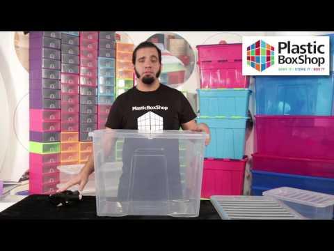 Wham Crystal 80lt Plastic Storage Box