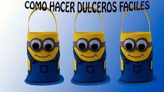 DULCERO MINNIONS FACIL/  COTILLON DE FOAMI