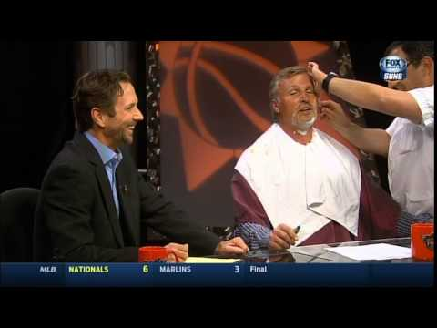 Suns Pre-Game Show - watch us shave Tom Chambers!