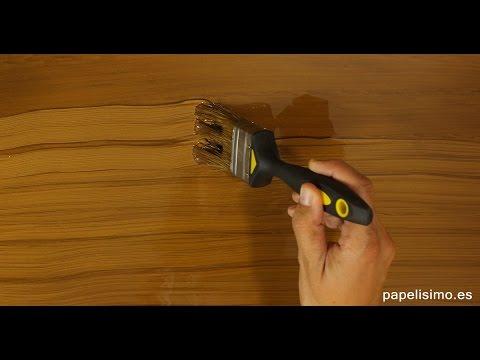 C mo imitar efecto vetas de madera youtube - Tipos de barnices para madera ...
