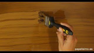 Cómo imitar efecto vetas de madera