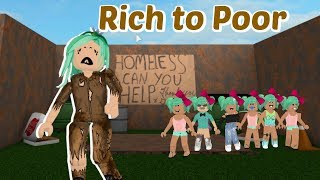Bloxburg Mom of 6 kids: Rich to Poor Homeless (Sad Roblox Story)