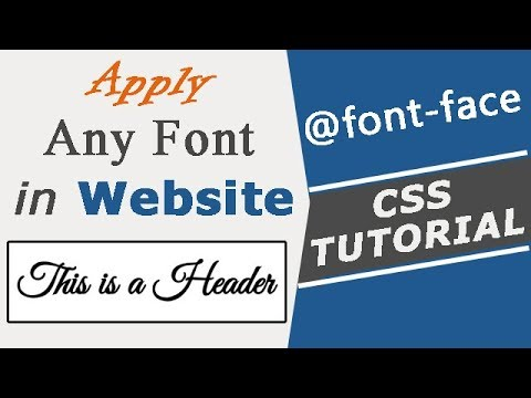 How To Download And Apply Any Font In Your Website Using Font-face Rule | CSS Tutorial In Hindi/Urdu