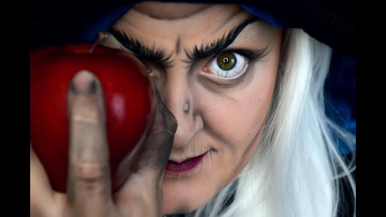 evil witch (snow white)   halloween makeup tutorial   aj kane - youtube