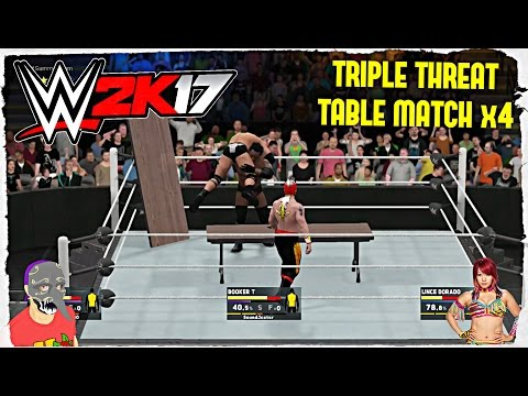"""WWE 2K17 {PS4} (TRIPLE THREAT TABLE MATCH x4) """"A Foursome Of Folding Table Follies"""""""