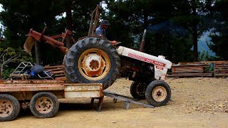 Rusty old Tractor with grader blade for $500 - Lets fix it.