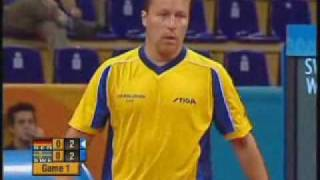 Table Tennis, Athens 2004, Waldner vs Boll - part 1