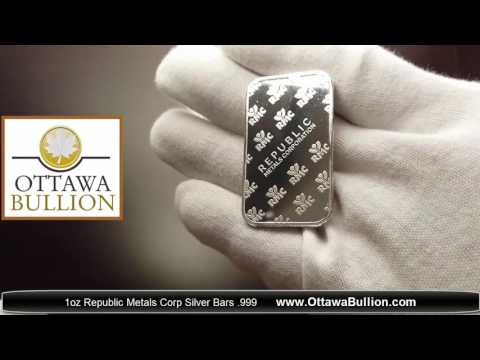 1 oz Republic Metals Corp Silver Bars  999   SELL SILVER OTTAWA