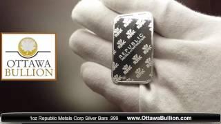 1 oz republic metals corp silver bars 999 sell silver ottawa