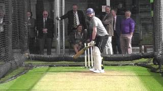 Jack Sheldon of Deep Extra Cover takes on the Middlesex CCC bowlers at Lord