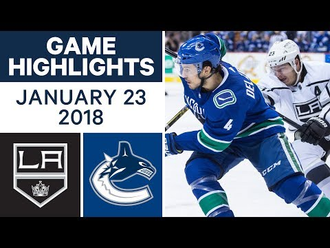 NHL Game Highlights | Kings vs. Canucks — Jan. 23, 2018