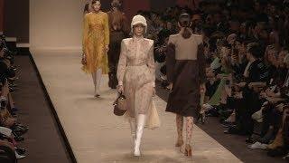 Kaia Gerber, Bella Hadid, Gigi Hadid and more on the runway for the Fendi Fashion Show