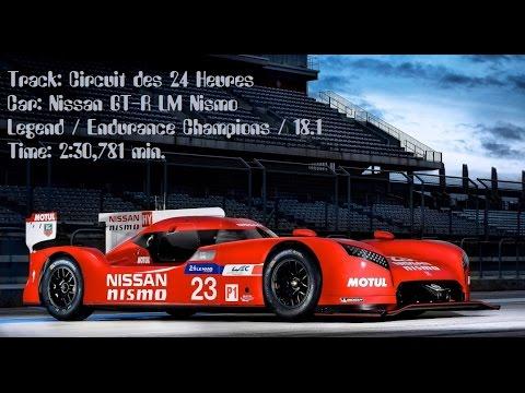 Time Trial 2:30,781 Nissan GT-R LM Nismo Le Mans