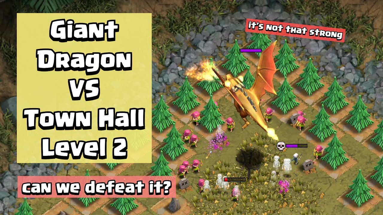 How To Beat Giant Dragon in Every Town Hall Level | Clash of Clans
