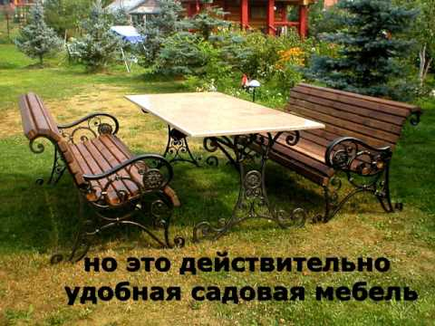 Стол и скамейки для сада на даче