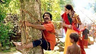 ലേലു അല്ലു ...ലേലു അല്ലു  ലേലു അല്ലു  അഴിച്ച് വിട്... | Mohanlal , Shobana - Thenmavin Kombath