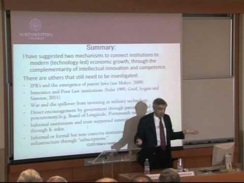IGIER - 20th Anniversary Conference - Joel Mokyr
