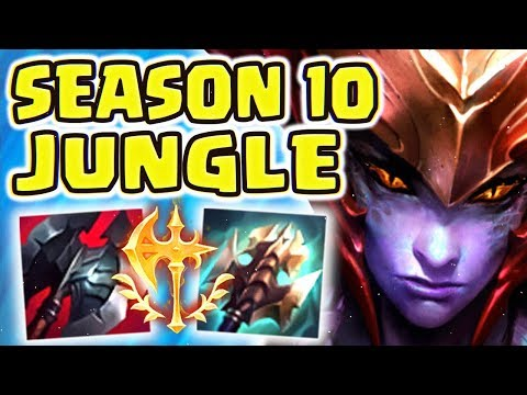 NEW CONQUEROR 1V9 SHYVANA JUNGLE!! SEASON 10 IS FOR JUNGLERS - VS A POOR LEE SIN