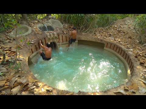 How To Build The Most Mysterious Water Slide With Swimming Pool Underground