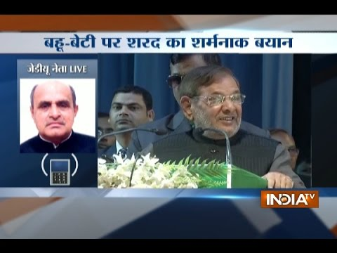 Sharad Yadav Insults Women, Says, 'Honour of Vote Comes above Honour of Daughter'