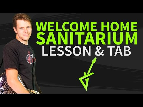 How to play Welcome Home Sanitarium On Guitar Lesson & Tab