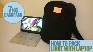 Travelling Light 7kg (15.4lbs) Backpack With A Laptop