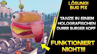 *BUG* Fortnite Dancing in a holographic Durrr Burger head doesn't work! Doesn't work!