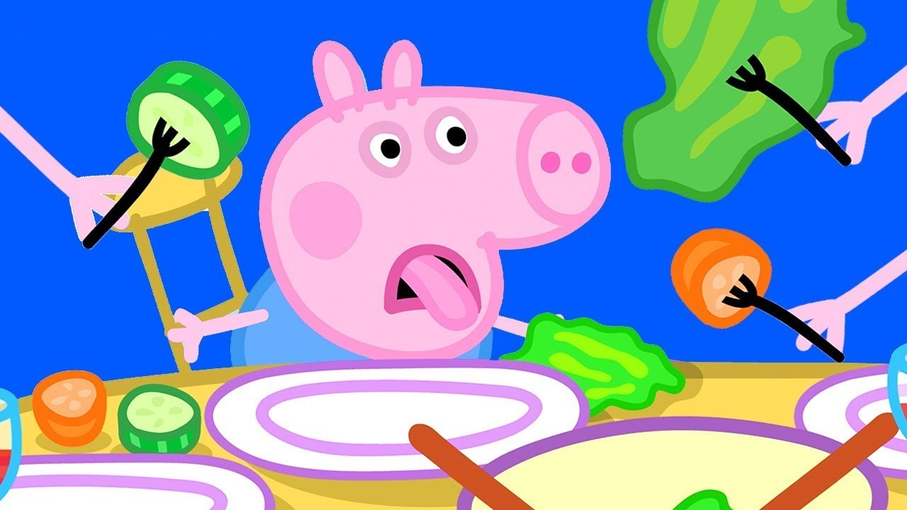 Download Peppa Pig Official Channel | George and Vegetable - Yes or No?