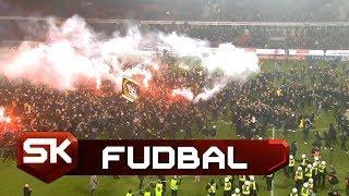 Luda Proslava Navijača AIK-a Nakon Osvojene Titule | Kalmar - AIK | SPORT KLUB Fudbal