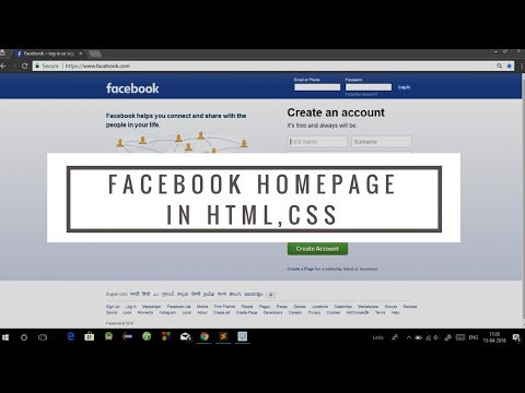 Create Website Using HTML CSS And Bootstrap In Hindi 2018 | Facebook Home Page With Source Code