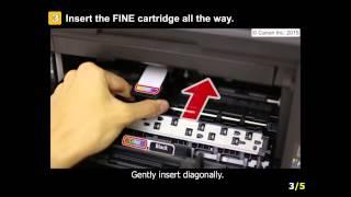 PIXMA MX492: Installing the FINE cartridges