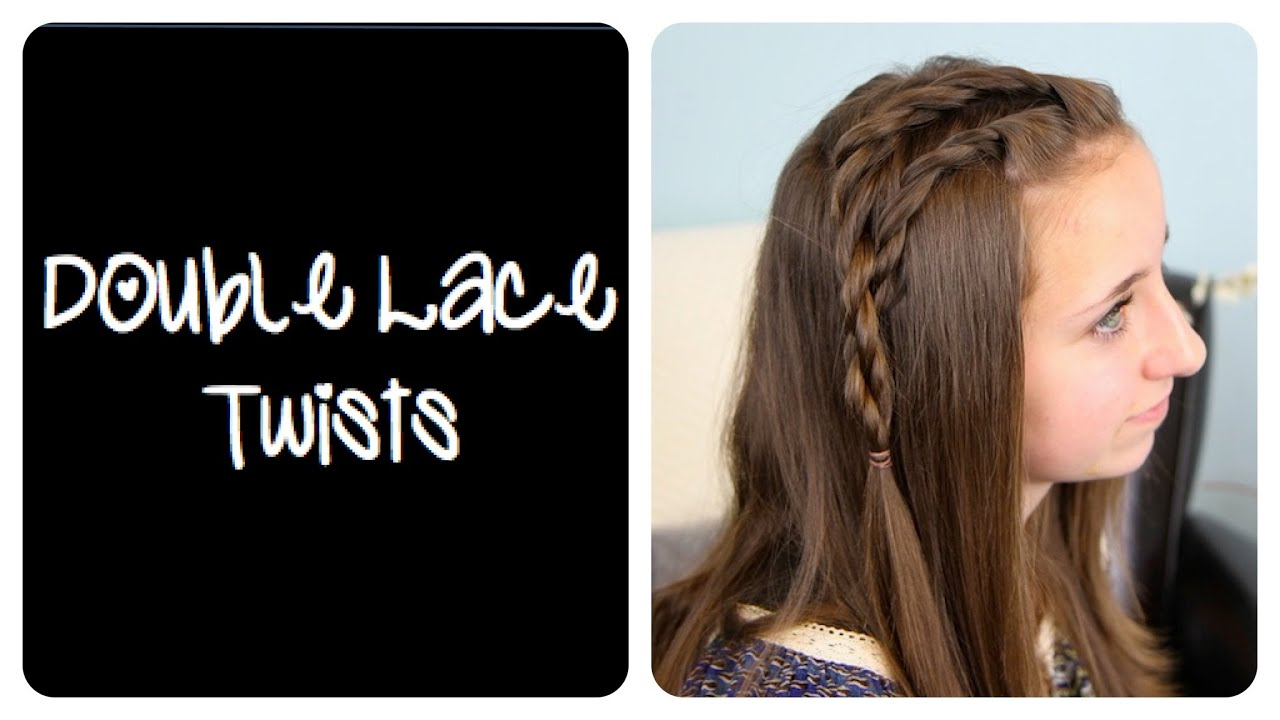 diy double lace twists   cute girls hairstyles - youtube