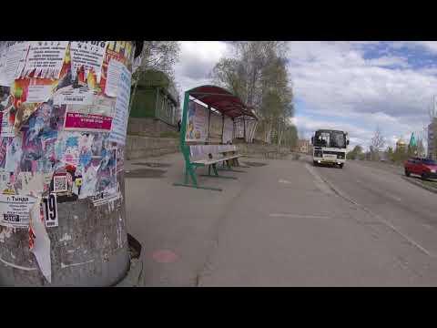 Город Тында Улице Красная пресня Кататься на велосипеде 2019г 4K