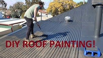 How To Paint Your Roof With A Broom