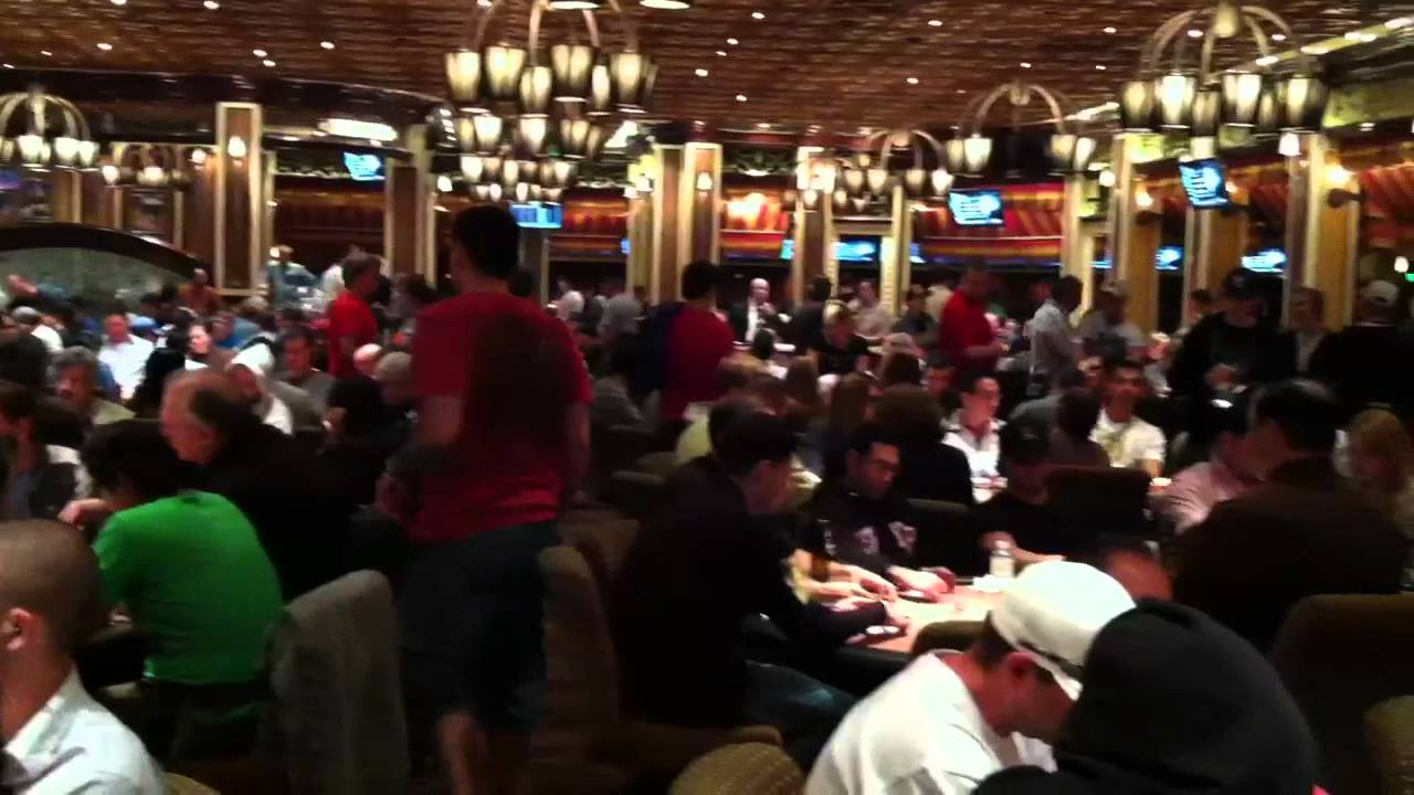 Bellagio Poker Room Packed During Wsop Youtube