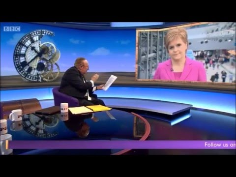 Andrew Neil exposes Nicola Sturgeon's economic plan in a car crash interview. #SNP16