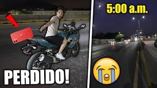 ¡SE ME VOLÓ mi CELULAR en MEDIO DE LA AVENIDA en LA MOTO y VOY A BUSCARLO a las 5:00 am! *peligroso*