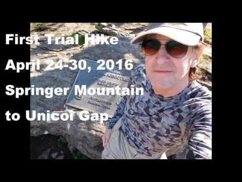 My First Trial Hike - Springer Mountain to Unicoi Gap in 1-1/2 minutes  #5 (new version)