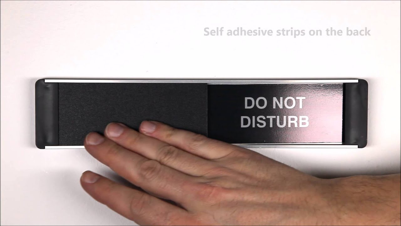 Knock And Enter Do Not Disturb Sliding Door Sign Safety Signs And