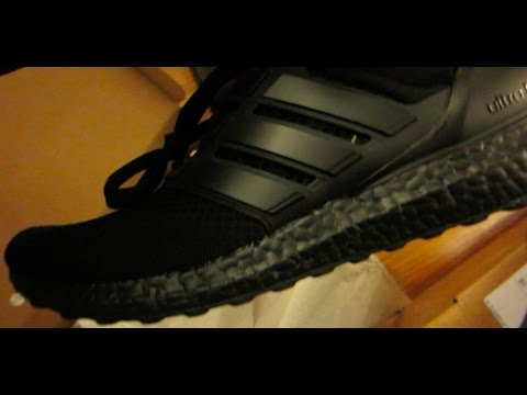 47d1dbfd3a9 Triple Black Adidas Ultra Boost Unboxing and Review! Quality Control Issues!