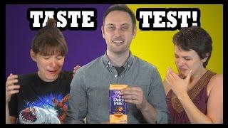 chocolate covered vegemite taste test food feeder