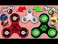 ♥ DIY: Make your own Ladybug  and Chat Noir Fidget Spinner || Miraculous Ladybug ♥