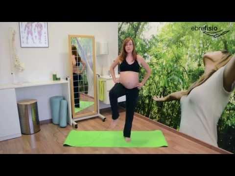 Sesión de gimnasia para embarazadas