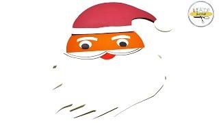 Christmas Santa Claus Card | Greeting card for Christmas | Christmas Card Making | Just Craft